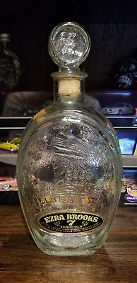 Ezra Brooks 1970 WHISKEY DECANTER Liberty Don't Tread on Me Amazing Condition