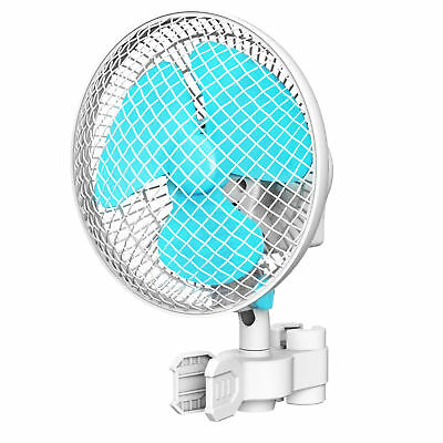 "VIVOSUN 6"" inch 2-Speed Clip On Oscillating Fan for Hydroponic Grow Tent 1"" Pole"