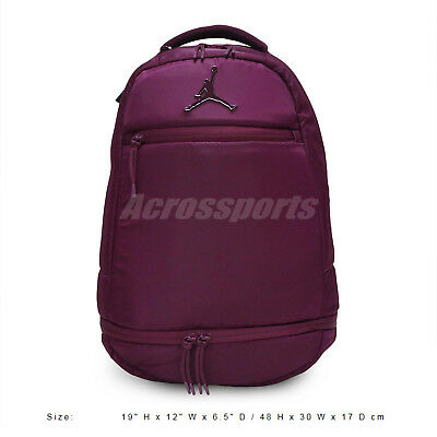 53df21d920dc66 Nike Air Jordan Skyline Flight Compartment Purple Red Backpack Bag  9A1967-P3D