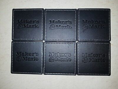 Makers Mark leather coaster set (6). New and sealed. Rare. Collectable