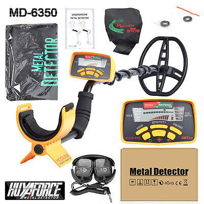 MD-6350 Metal Detector with Waterproof Search Coil and Headphones