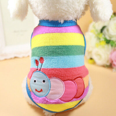 Cartoon Small Dog Clothes Soft Fleece Winter Dog Coat Warm Cup Puppy Vest