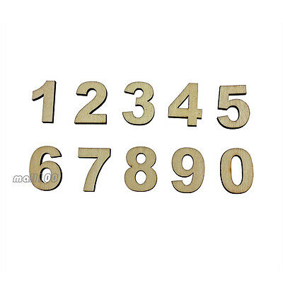 Self-adhesive Wooden 0~9 Number Decorative Sign For Wedding Birthday Party Shop