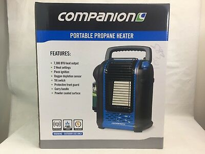 Companion - Portable Propane Gas Heater - Camping - Outdoor - NEW -