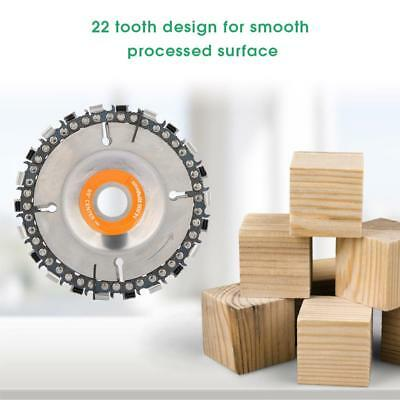 "4"" 22 Tooth Chain Disc Wood Plastic Cutter Wheel for 100/115mm Angle Grinder MN"