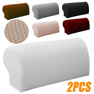 2Pcs Universal Arm Chair Protector Sofa Couch Armchair Covers Armrest Stretch UK