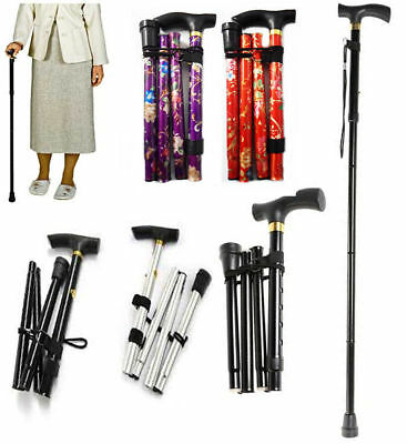 Light Durable Easy Adjustable Folding Cane Flower Style Design Walking Stick AU