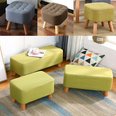 Fabric Pad Footstool Bedroom/Porch Sitting Rest Stool Corner Chair Pouffe Shapes