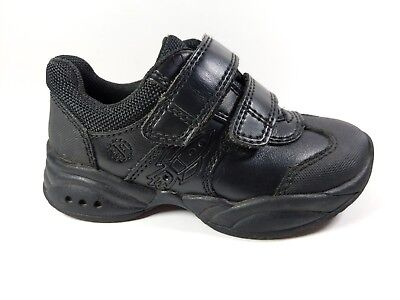 Marks And Spencer Boys Black Leather School Shoes Uk 8 On/Off Lights Button