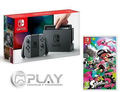 NINTENDO SWITCH Consola Gris 32Gb + Splatoon 2