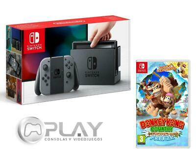 Nintendo Switch Consola Gris Neón 32Gb + Donkey Kong: Tropical Freeze