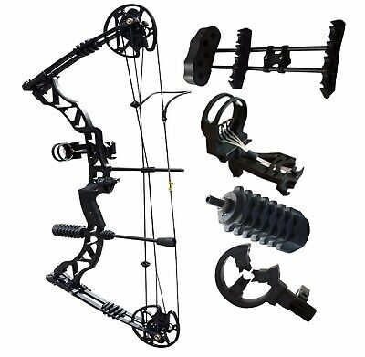 Archery Compound Bow 35-70lbs Shooting Target Outdoor Sports Right Handed Black