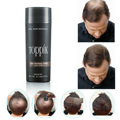 Toppik Hair Building Fibers 27.5g Plant Powder Spray Concealing Thinning Hair