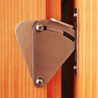 Silver Lock for Sliding Barn Door Wood Door Latch Door Hardware Stainless Steel