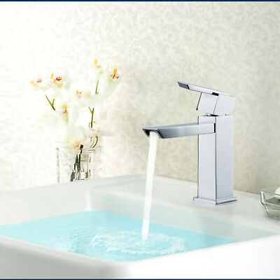 Single Handle Taps Utility Sink Faucets Waterfall Bathroom Lavatory Faucet