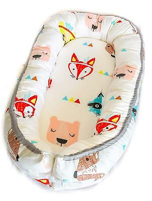 Newborn Baby Nest - Easy to Move, Ideal for Co-Sleeping, Breathable and Soft