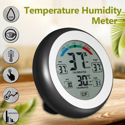 Digital Indoor Thermometer Hygrometer Touchscreen Temperature Humidity Meter WN