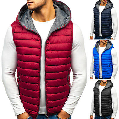 BOLF Vests Gilet Waistcoat Bodywarmer Jacket Quilted Puffer Warm Mens 4D4 Hooded