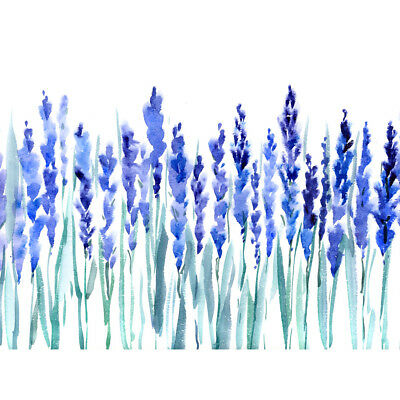 Flowers Lavender Watercolour Unframed Wall Art Print Poster Home Decor