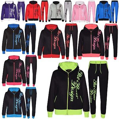 Kids Boys Girls Tracksuit Designer The Power Design Top Bottom Jogging Suit 5-13