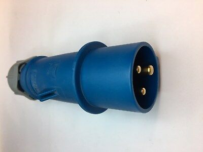 Mennekes 248 AM-TOP Blue Industrial Plug With Screw Terminals 2P+E IP44 16A 230V