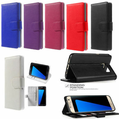 Case For Samsung Galaxy A6 2018 Luxury Genuine Real Leather Flip Wallet Cover