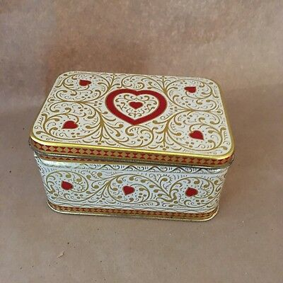 Daher Tin Box, Heart Design, Made in England, Valentine's Day