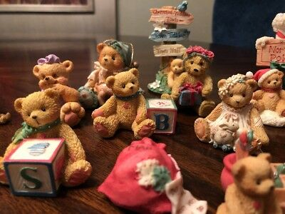 Variety lot of 18 Cherished Teddies Years Vary Priscilla Hillman Enesco Corp.