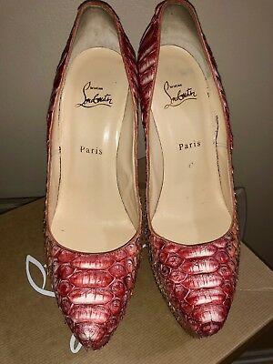 6b0afc8ea9ae CHRISTIAN LOUBOUTIN PIGALLE 100mm PYTHON Pesce Size 41 -  449.99 ...