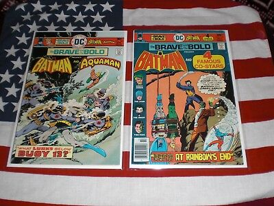 The Brave And The Bold  No.126  &  No.130  Fn+  1976  Batman  Dc Comics