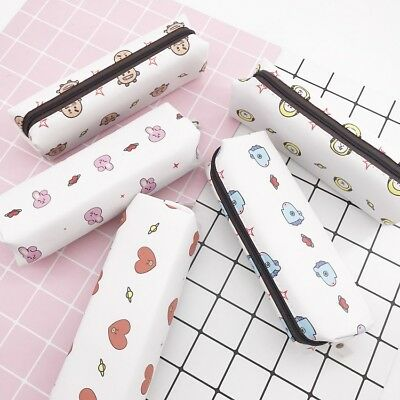 Kpop BTS Bangtan Boys BT21 Pencil Bag Cute Makeup Bag JUNGKOOK RAPMONSTER SUGA V