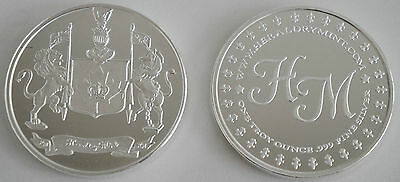 """1 One Oz Hw Minting Heraldry Mint """"canada"""" Fine .999 Silver Coin Silver Round"""
