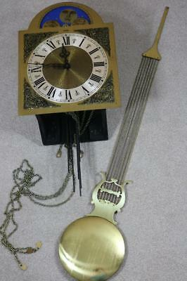 HERMLE  GRANDFATHER CLOCK MOVEMENT triple chimes & moonroller LYRE PENDULUM