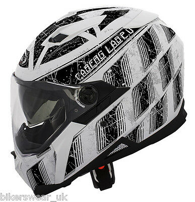 Caberg Stunt STEEZ White / Black Full Face Motorcycle Helmet LAST FEW
