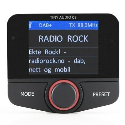 Tiny Audio C8 DAB+ FM Transmitter | Bluetooth | AUX in / Line out | Freispreche.