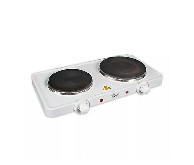 Double Hotplate Portable Food Warmer Outdoor Tabletop Cooker Low Wattage 2500W