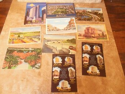Postcards From Florida. Boston. And California Lot Of 10 Some Vintage