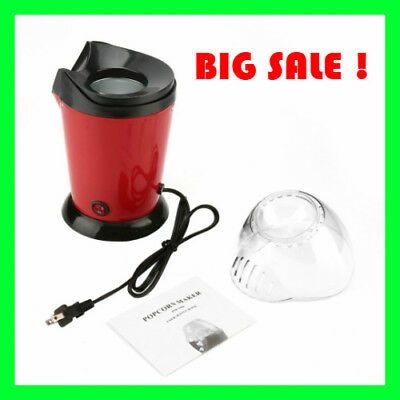 Portable Electric Popcorn Maker Home Round/Square Hot Air Popcorn Making Machine