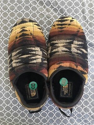 2b5757031 THE NORTH FACE Pendleton Camp Mules Graphite Grey Print Sz 9 ...