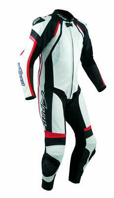 Motorcycle Motorbike Full Body one pc Perforated Leather Race Suit  Red 54