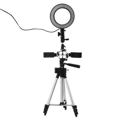 Photography Dimmable LED Video Live Studio Ring Light w/Selfie Tripod Phone Clip