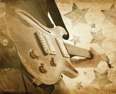 JP London MD3A064 Classic Grit Rock Guitar Removable Full Wall Mural at 8.5-Feet