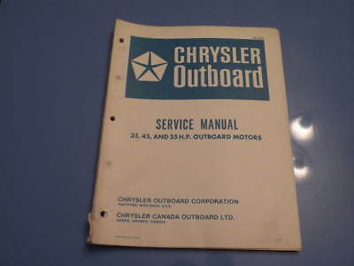 Chrysler Outboard Service Manual Repair Manual 35 chrysler outboard service manual 75 and 105 h p motors ob 981