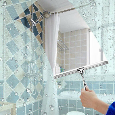 Stainless Steel Window Glass Wiper Cleaner Squeegee Shower Bathroom