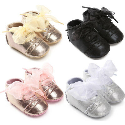 Infant Baby Girl Boy Fashion Bandage Toddler Leather First Walkers Kid Shoes S9