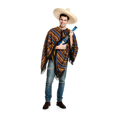 Mexikaner Kostum Herren Poncho Mexiko Karneval Fasching Manner Grosse