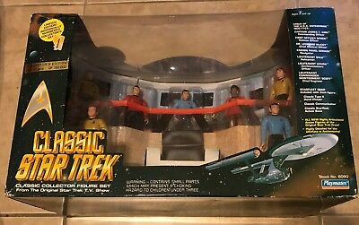 Classic Star Trek 7 Figure Set NEW in original box Playmates Original Series