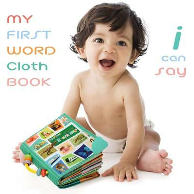 "Babies Teytoy Cloth First Word Book ""I Can Say"" Colourful Pattern Baby Toy Book"