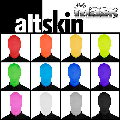 New! Altskin Zentai Mask - Spandex/lycra Costume Face - Green Man - 2 Sizes