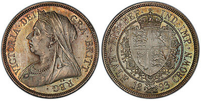 GREAT BRITAIN Victoria 1893 AR Halfcrown PCGS MS65 S-3938. Superbly toned.